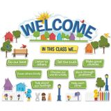 A Teachable Town In This Class Welcome Set Bulletin Board Set