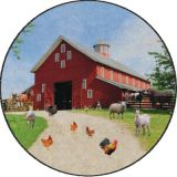 Barn Animals PhotoFun Rug™, 12' Round
