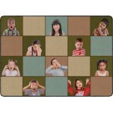 Social Emotional Seating Rug, 6' x 8'4 Rectangle, Earth Tone