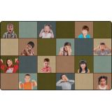 Social Emotional Seating Rug, 7'6 x 12' Rectangle, Earth Tone