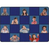 Social Emotional Seating Rug, 6' x 8'4 Rectangle, Primary