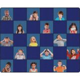 Social Emotional Seating Rug, 10'6 x 13'2 Rectangle, Primary