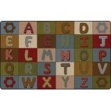ABC Quilt™ Rug, 7'6 x 12' Rectangle, Earth Tone