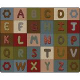 ABC Quilt™ Rug, 10'6 x 13'2 Rectangle, Earth Tone
