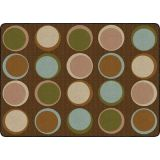 Sitting Spots™ Rug, 6' x 8'4 Rectangle, Earth Tone