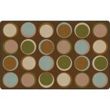 Sitting Spots™ Rug, 7'6 x 12' Rectangle, Earth Tone