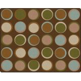 Sitting Spots™ Rug, 10'6 x 13'2 Rectangle, Earth Tone