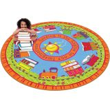 Reading Is the Engine Rug, 6' Round