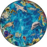 Into the Sea PhotoFun Rug™, 12' Round
