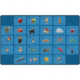 See My Alphabet PhotoFun Rug™, 7'6 x 12' Rectangle, Blue