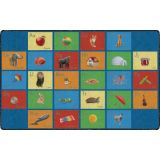 See My Alphabet PhotoFun Rug™, 6' x 8'4 Rectangle, Multi