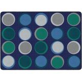 Sitting Spots™ Rug, 6' x 8'4 Rectangle, Cool Colors