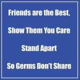 Healthy Habits 11 Square Floor Stickers 5-Pack, Friends Are the Best, Blue