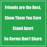 Healthy Habits 11 Square Floor Stickers 5-Pack, Friends Are the Best, Green