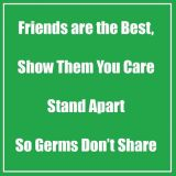 Healthy Habits 11 Square Wall Stickers 5-Pack, Friends Are the Best, Green