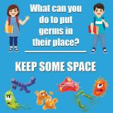 Healthy Habits 11 Square Wall Stickers 5-Pack, Keep Some Space