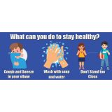 Healthy Habits 14W x 6H Floor Stickers 5-Pack, What Can You Do to Stay Healthy