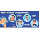 Healthy Habits 14W x 6H Wall Stickers 5-Pack, When Should You Wash Your Hands