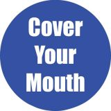 Healthy Habits 11 Round Floor Stickers 5-Pack, Cover Your Mouth, Blue