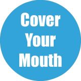 Healthy Habits 11 Round Floor Stickers 5-Pack, Cover Your Mouth, Cyan
