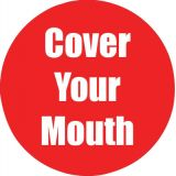 Healthy Habits 11 Round Floor Stickers 5-Pack, Cover Your Mouth, Red