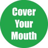 Healthy Habits 11 Round Floor Stickers 5-Pack, Cover Your Mouth, Green