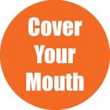 Healthy Habits 11 Round Floor Stickers 5-Pack, Cover Your Mouth, Orange