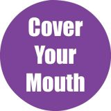 Healthy Habits 11 Round Floor Stickers 5-Pack, Cover Your Mouth, Purple