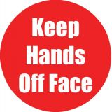 Healthy Habits 11 Round Floor Stickers 5-Pack, Keep Hands Off Face, Red