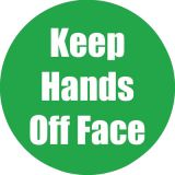 Healthy Habits 11 Round Floor Stickers 5-Pack, Keep Hands Off Face, Green
