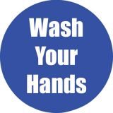 Healthy Habits 11 Round Floor Stickers 5-Pack, Wash Your Hands, Blue