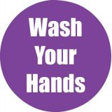 Healthy Habits 11 Round Floor Stickers 5-Pack, Wash Your Hands, Purple