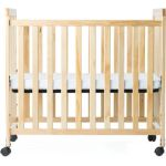 SafetyCraft® Compact-Size Crib, Fixed Side with Slatted Ends