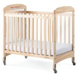 Next Generation Serenity® Compact-Size Crib with Natural EverClear™ Finish, Fixed-Side with Mirror End Panels