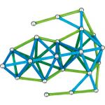 Geomag™ Green Line Colors, 142 pieces