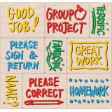 Notes From the Teacher Wood Stamps Set