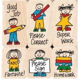 Hero Kids for Teachers Wood Stamps Set