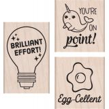 Brillant Effort Wood Stamps Set