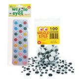 Wiggle Eyes, 10mm, 100 Paste-On