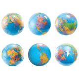 6 Globes Die Cut Accents