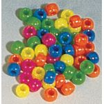Bucket O' Beads, Neon Barrel Beads