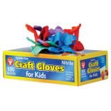 Colored Craft Gloves, Kids Size