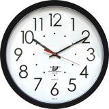 Chicago Lighthouse Contemporary Wall Clock, 14.5, Self Set, Black
