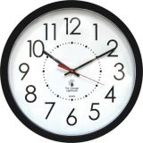 Chicago Lighthouse Contemporary Wall Clock, 14.5, Electric, Black