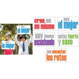 Positivity Posters, Spanish, Pack of 5