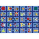 Alphabet Blues™ Rug, 3'0 x 5'4 Rectangle