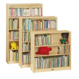 Bookcase with 3 Adjustable Shelves, 48H, Fully Assembled