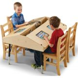 Jonti-Craft® Quad Tablet Table, Stationary