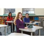 Berries® Collaborative Table, Bowtie Table, Gray top w/Gray edge & upper legs