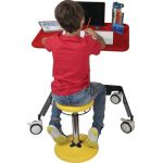 Kore® Kids Sit-Stand Mobile Student Desk, Red